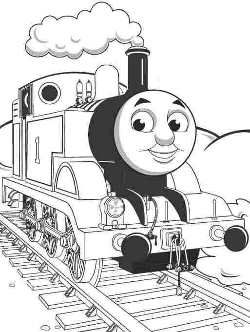 Cartoon Thomas The Tank Engine Coloring Sheets Printable For Kids