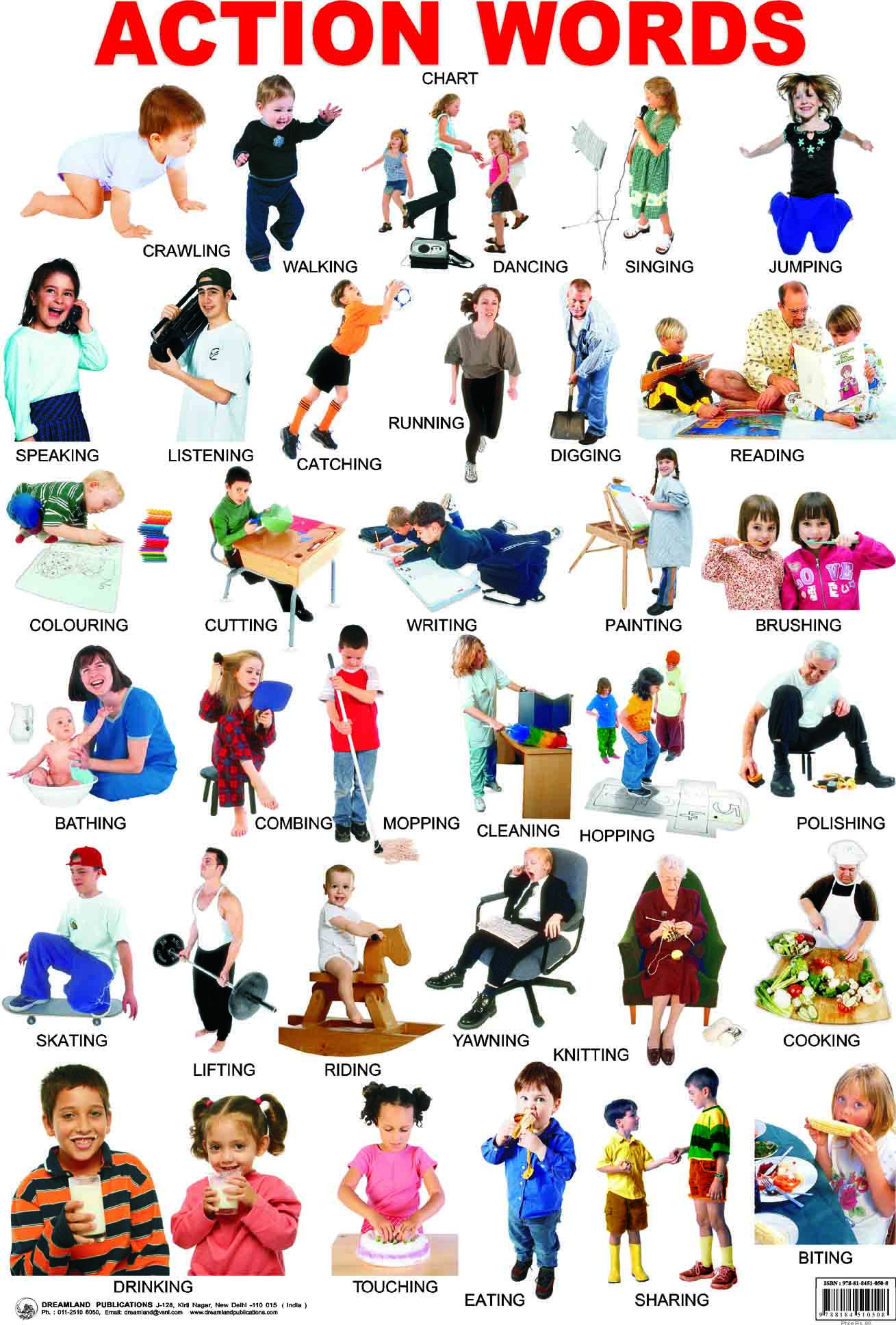 English Kids Fun Action Verbs