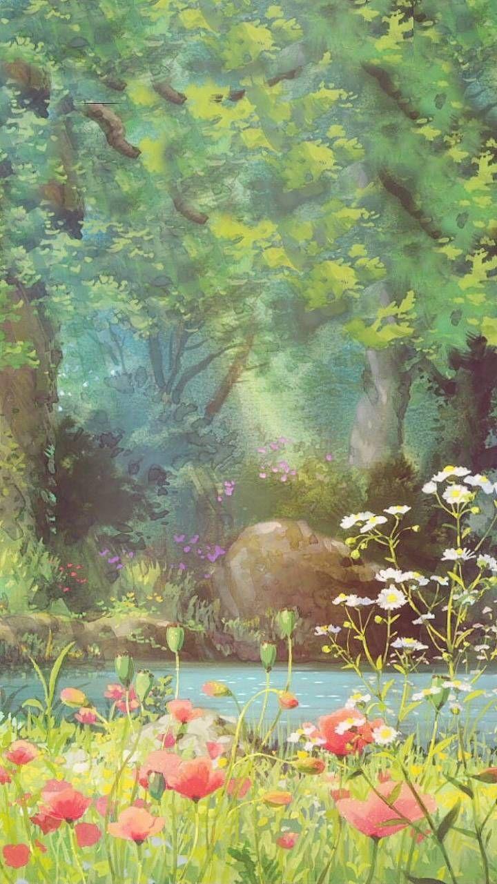 ジブリ おしゃれまとめの人気アイデア Pinterest R 水彩風景画 水彩画のアート 綺麗なイラスト壁紙背景