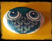 KENSINGTON OWL CLAN_painted stone/pebbles/rock