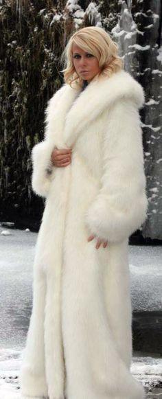 very long white fur | Fur coats | Pinterest | White fur, Fur and ...