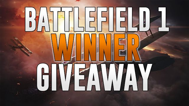BF1 Giveaway Winner Congratulations to theBF1 steam key