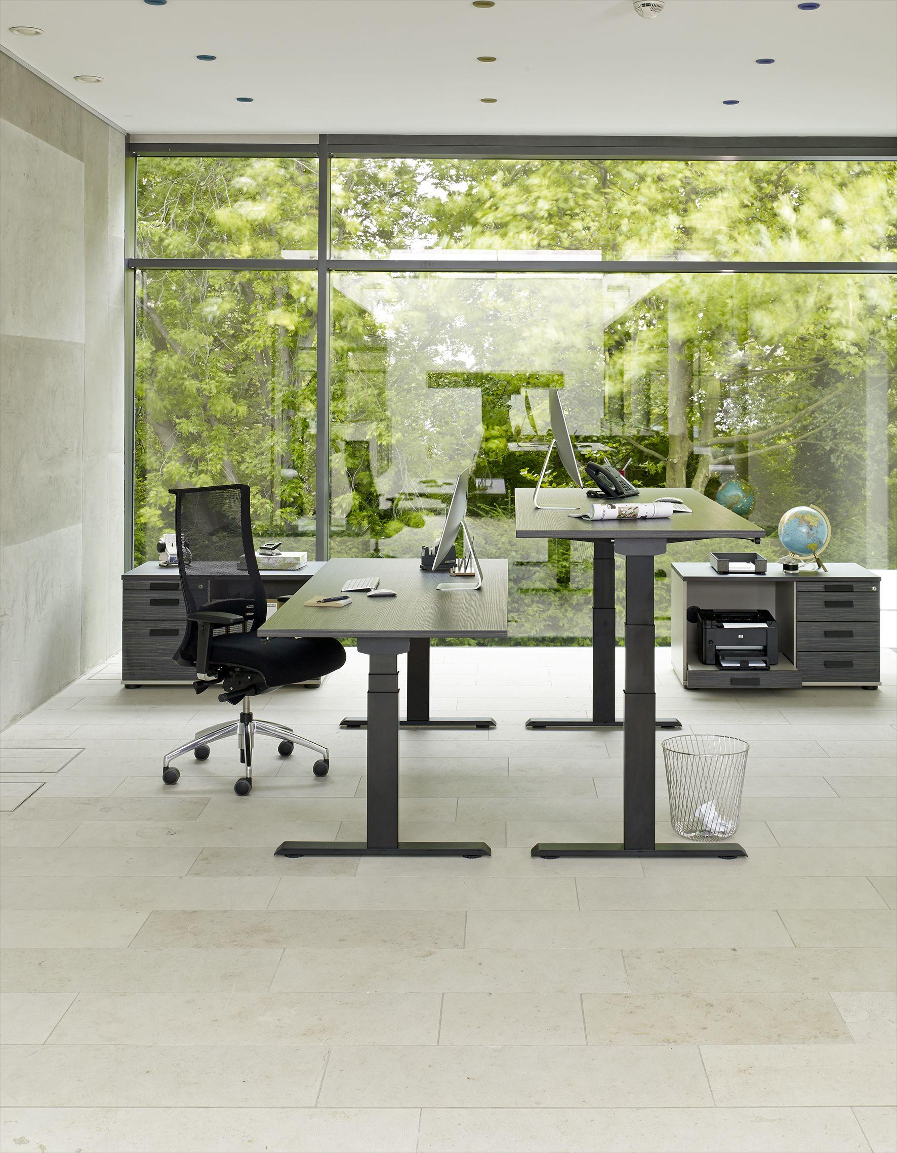 elektromotorisch h henverstellbarer schreibtisch active von febr ergonomisch arbeiten im. Black Bedroom Furniture Sets. Home Design Ideas