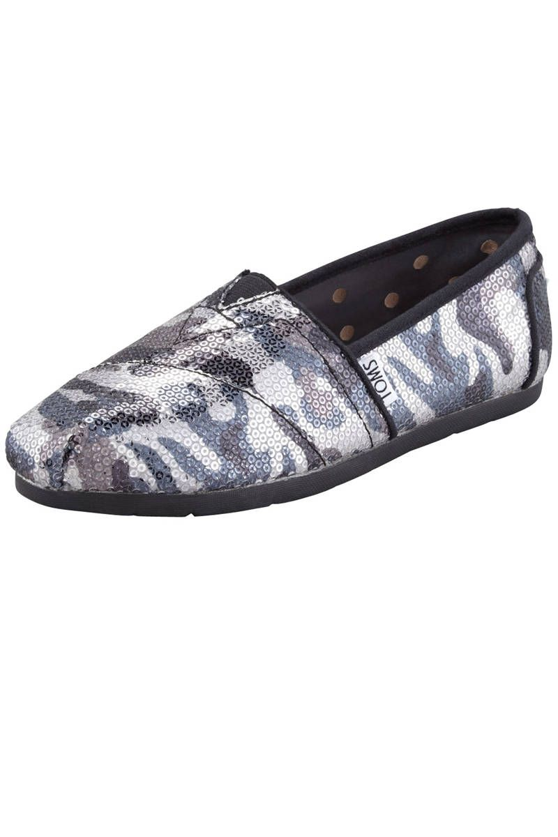 85f2977384693 Toms Shoes Sequined Camo Slip-Ons, $95; target=