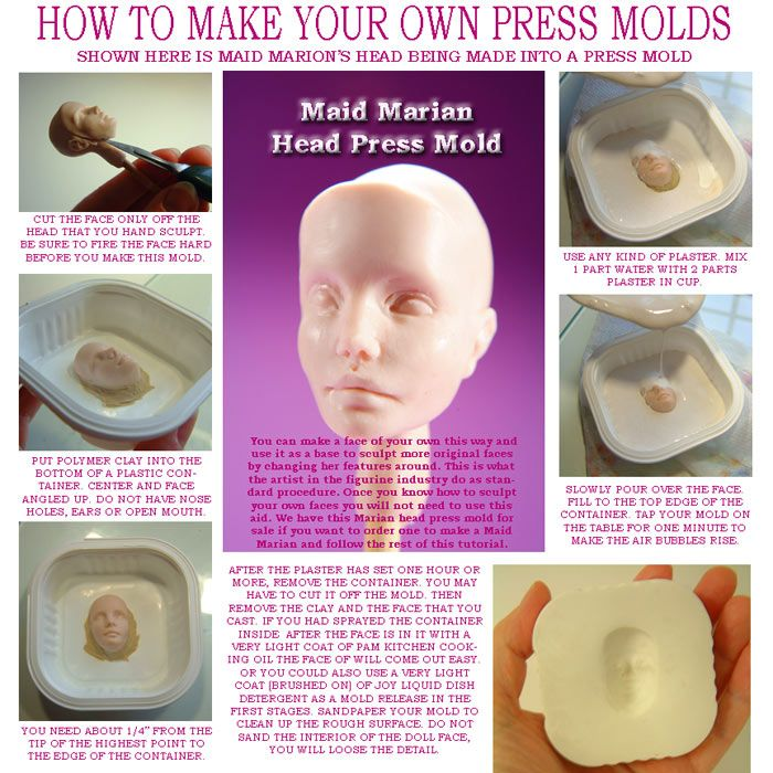 how to make a two part plaster mold