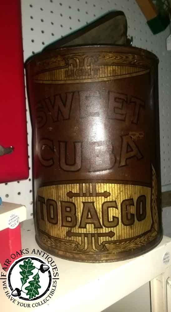 #Antique Sweet Cuba #Tobacco tin - huge!