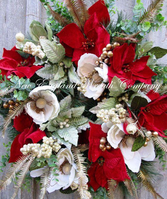 Christmas Wreath Holiday Wreath Designer di NewEnglandWreath
