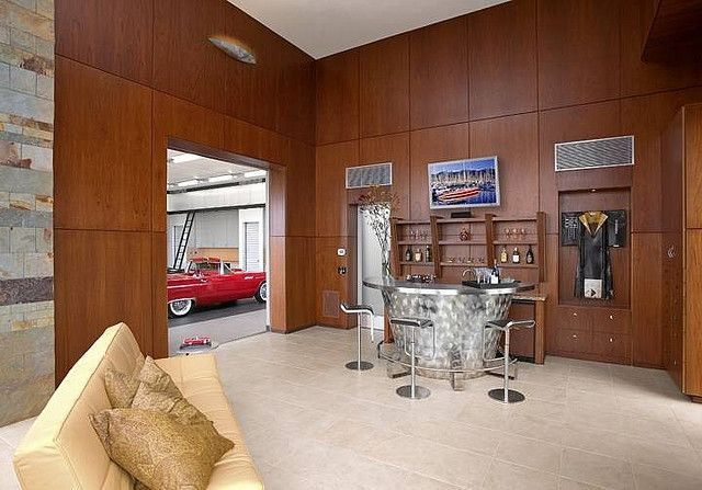 The Man Cave Attached To The Luxury Garage... Perfect!