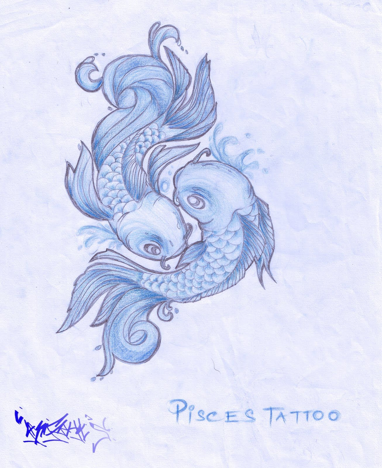 Photo of Pisces Zodiac tattoo design