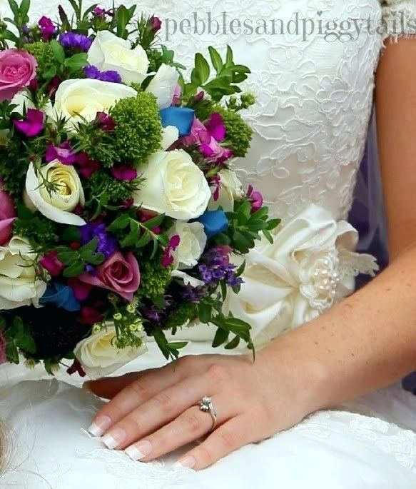 Purple-and-teal-wedding-colors In 2020