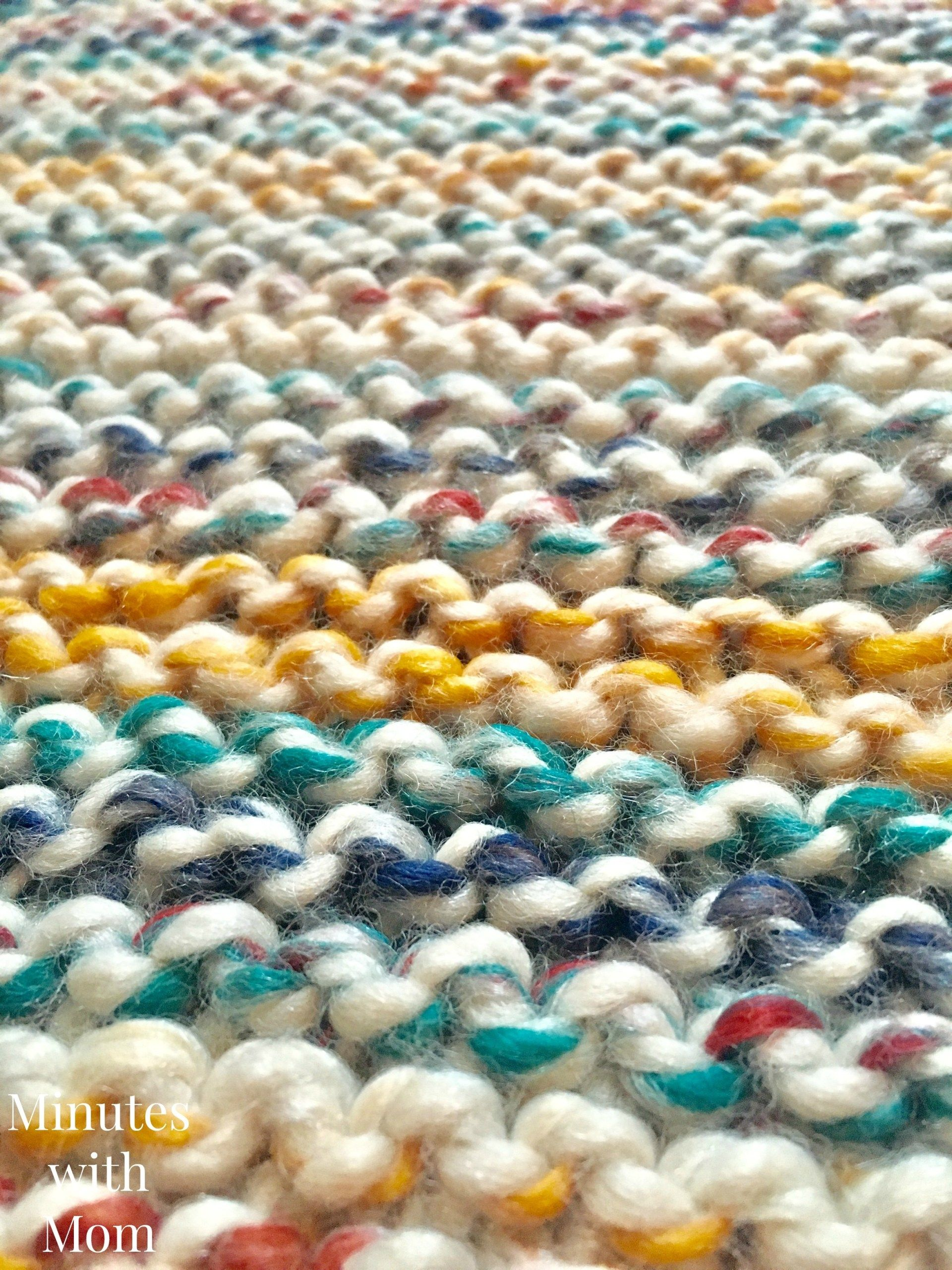 Simple Garter Stitch Blanket with FREE PATTERN! - | Free ...