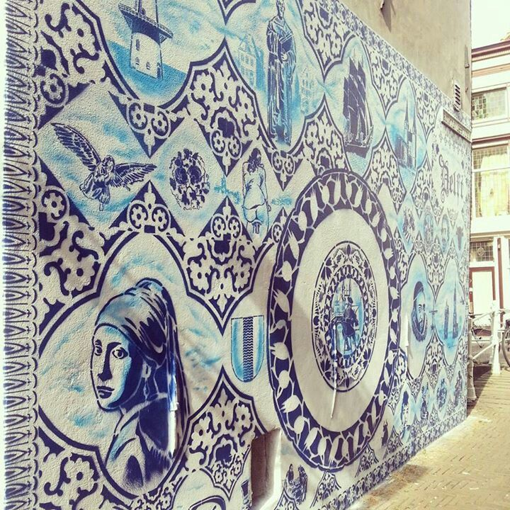 Street art,  Delft style. The Netherlands.