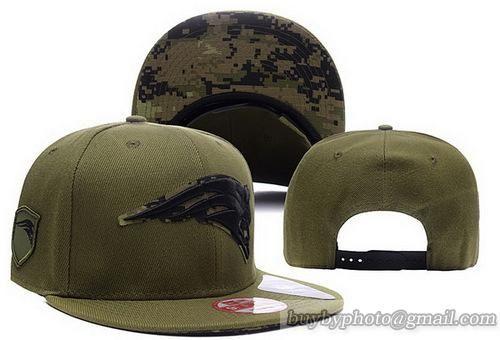 NFL New England Patriots ArmyGreen Snapback Hats Caps  0ad3a4b4aba
