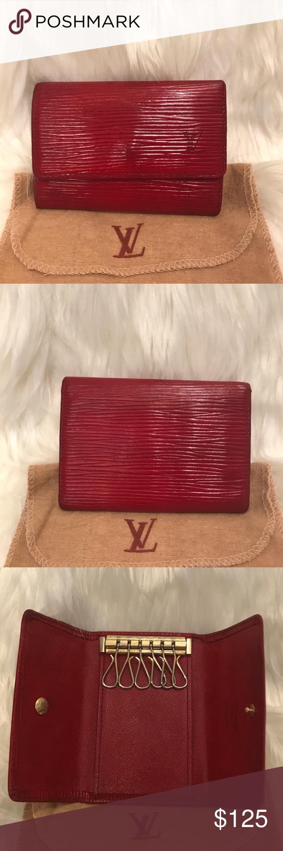e054d0c6 Vintage Louis Vuitton Red Epi Leather 6 Key Holder It's old but ...