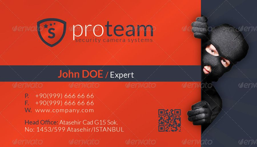 Security Systems Business Card Template Business Card Template Buisness Cards Security System