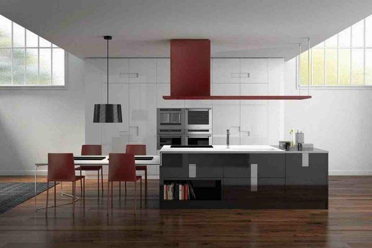 Cocinas en rojo - treinta y ocho diseños ardientes - | Cocina ...