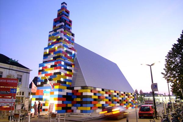 temporary pavillion Abondantus Gigantus - LOOS.FM - Grenswerk Festival, Enschede, Netherlands