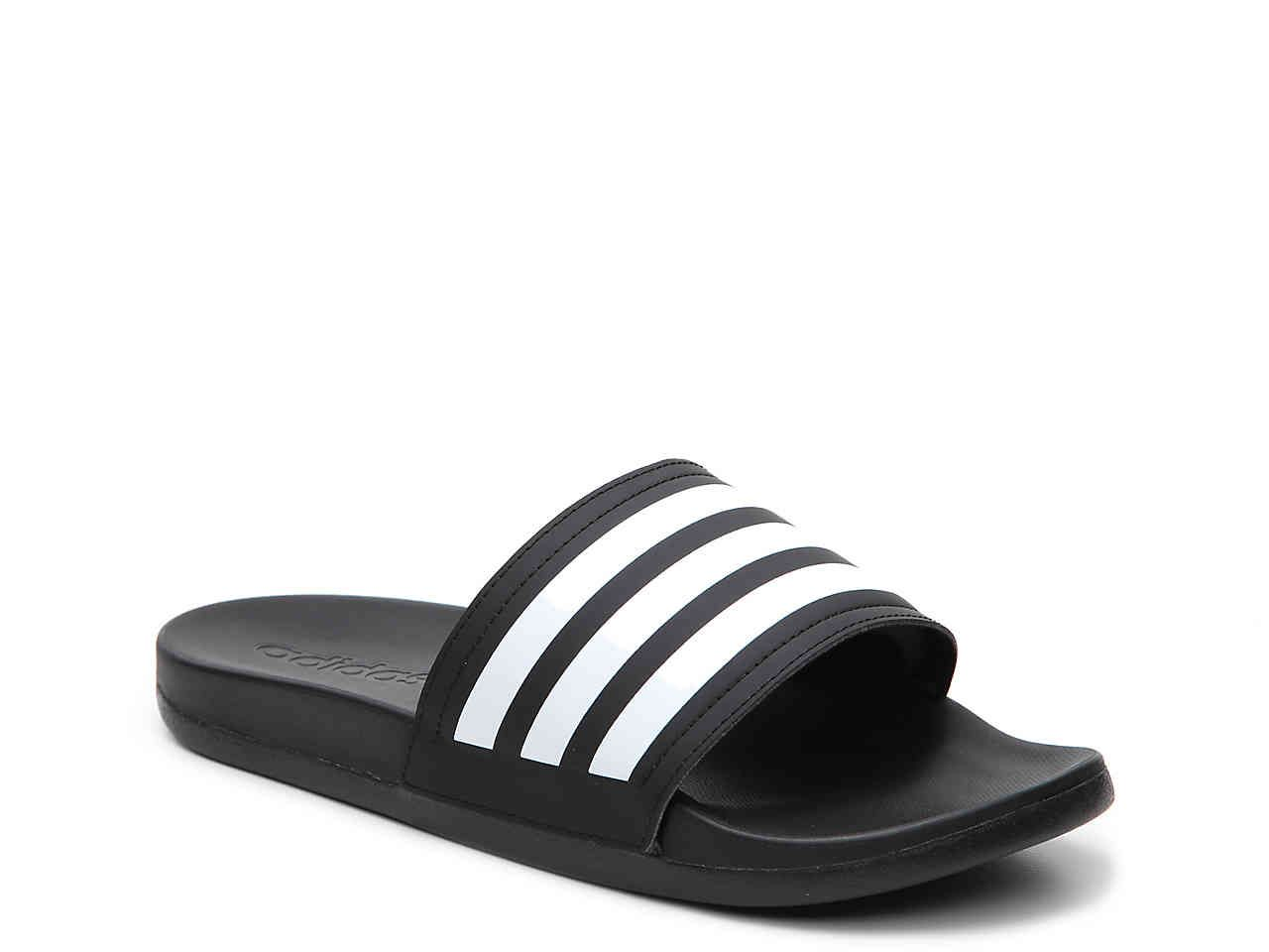 adidas Adilette Cloudfoam Ultra Stripes Slide Sandal