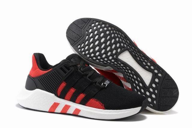 various colors 188c7 eda14 Unisex Adidas Eqt Support 93 17 Black Red Trainers