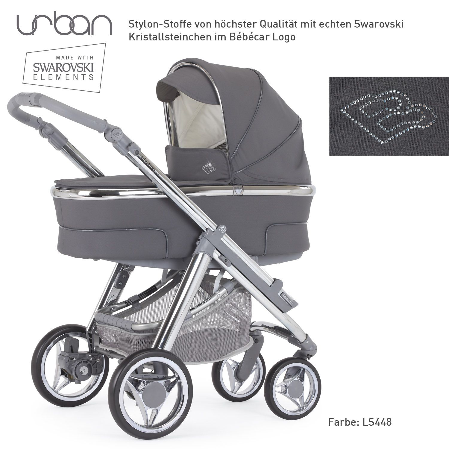bebecar kinderwagen urban hip hop in der swarovski. Black Bedroom Furniture Sets. Home Design Ideas
