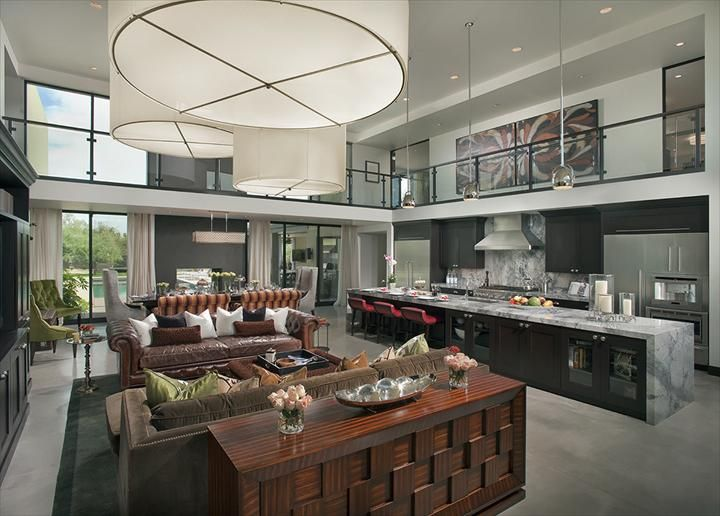 Thermador Kitchen Gallery : note great room integration with kitchen, island too long.