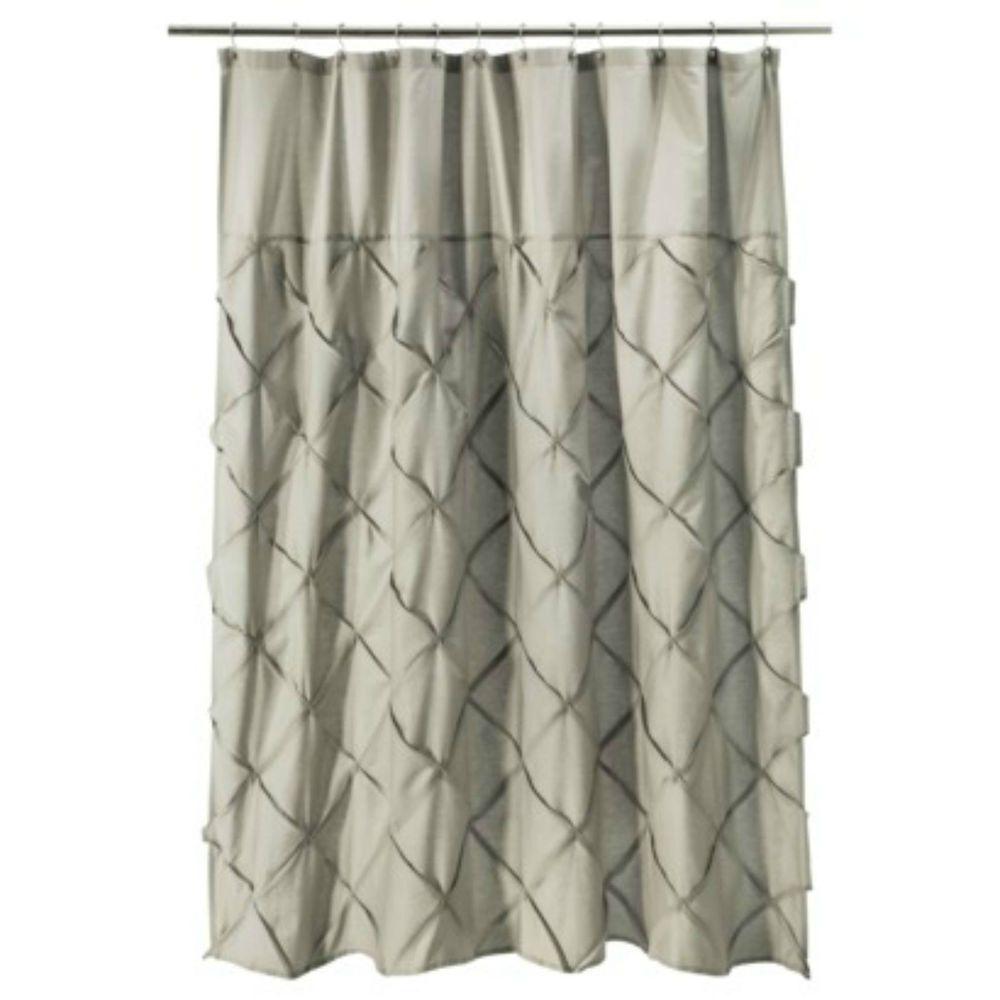 Threshold Gray Pinch Pleat Shower Curtain Threshold Fabric