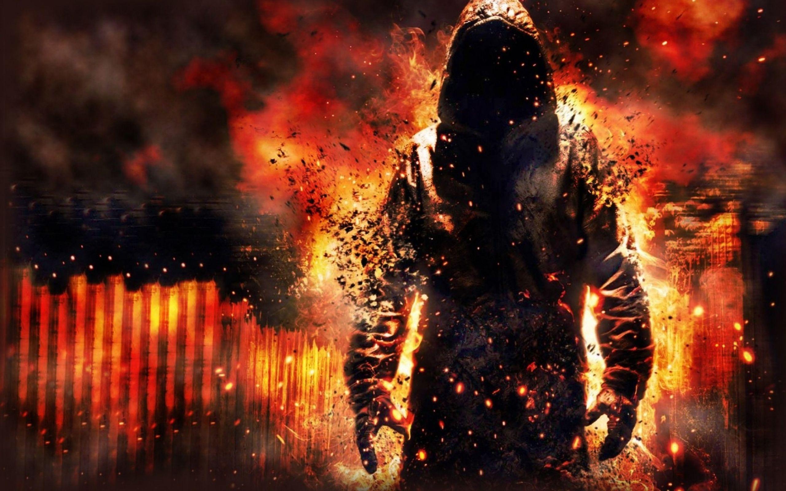Fantasy Fire Skull Man Google Zoeken Hd Cool Wallpapers Cool