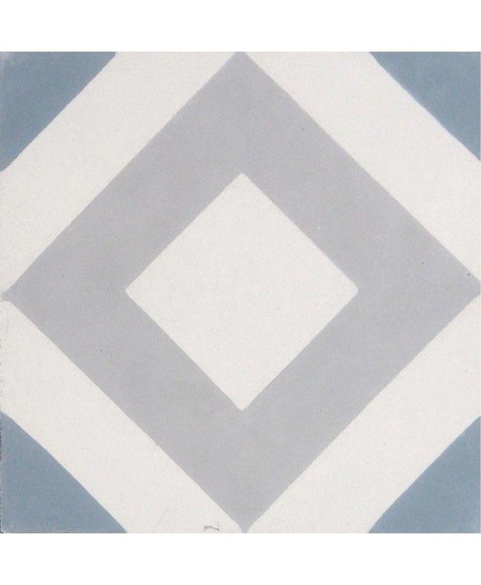 Varadero Gris Bleu Encaustic Cement Tile by Terrazzo Tiles¦ Shop Online: http://www.terrazzo-tiles.co.uk/varadero-gris-bleu-encaustic-cement-tile.html  #encaustictiles #cementtiles #hydraulictiles #Varadero #geometricpattern #beautifultiles #tiles #patterntiles #terrazzotiles @TerrazzoTiles