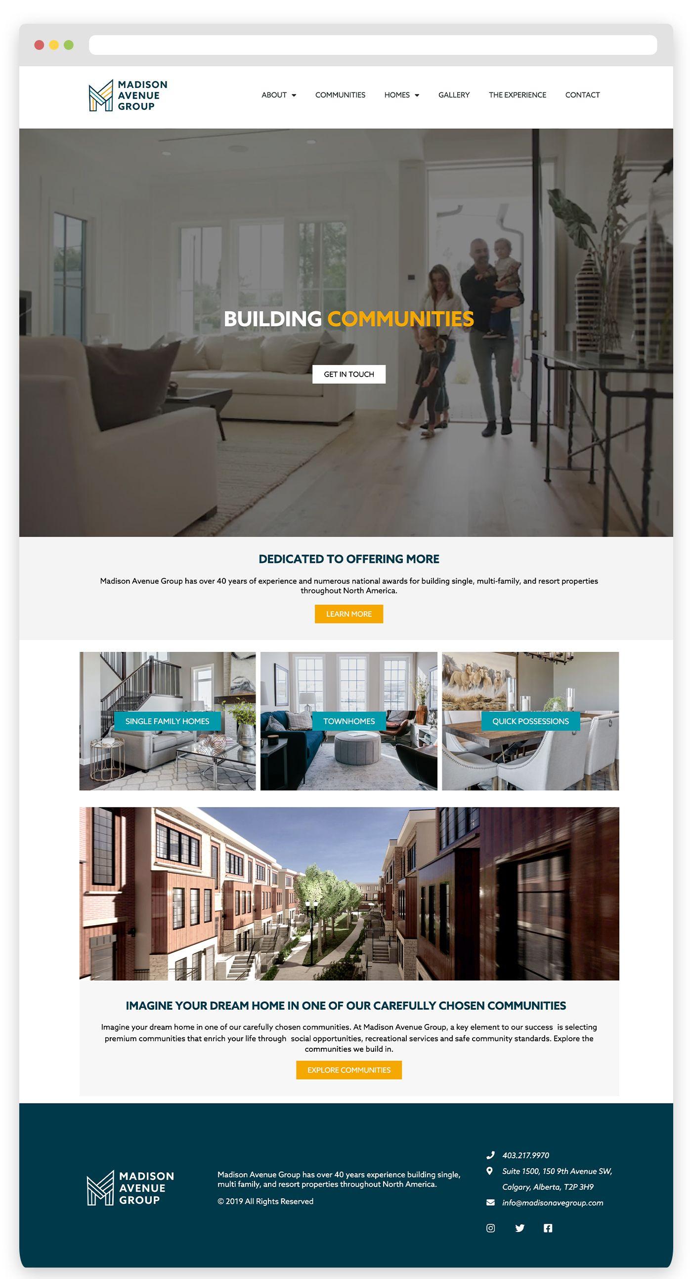 Madison Avenue Group Website Design Website Design Custom Website Design Web Design