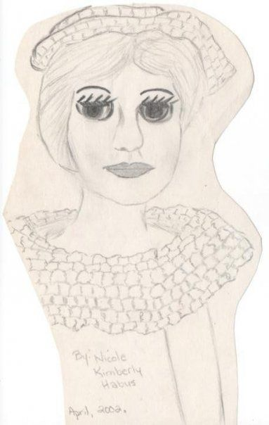 Sketch I did of a doll I still own. April 2002 and my son was born Nov 2002 - Holy!