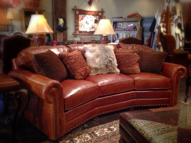 Rustic Leather Sofa | For the Home | Rustic sofa, Rustic ...