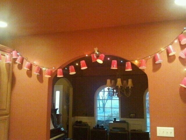 red solo cups christmas trees | Red solo cup on christmas lights | party ideas