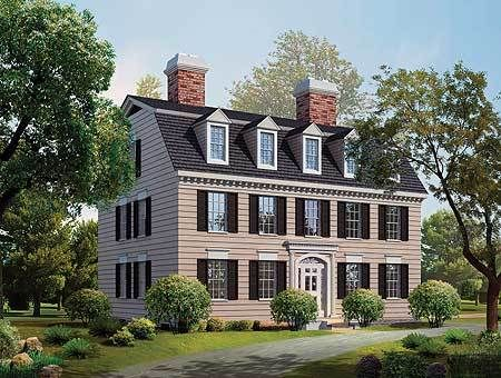 Simplicity in a Federal Style Home Plan   81142W   2nd Floor Master     Simplicity in a Federal Style Home Plan   81142W   2nd Floor Master Suite   Colonial  Den Office Library Study  Narrow Lot  PDF   Architectural Designs