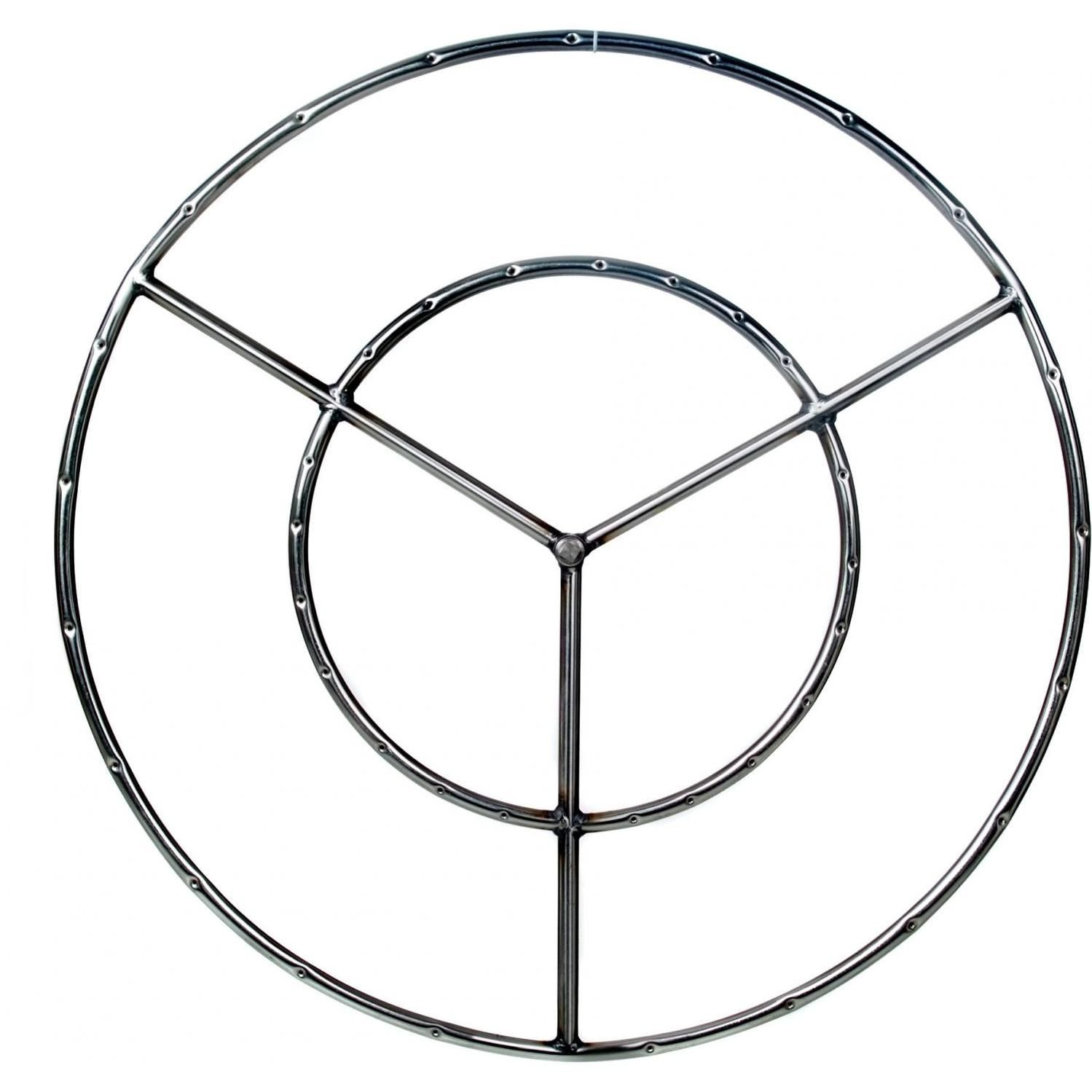 Alpine Flame 36 Inch Stainless Round Double Propane Fire Pit Ring Burner Natural Gas Fire Pit Fire Pit Ring Propane Fire Pit