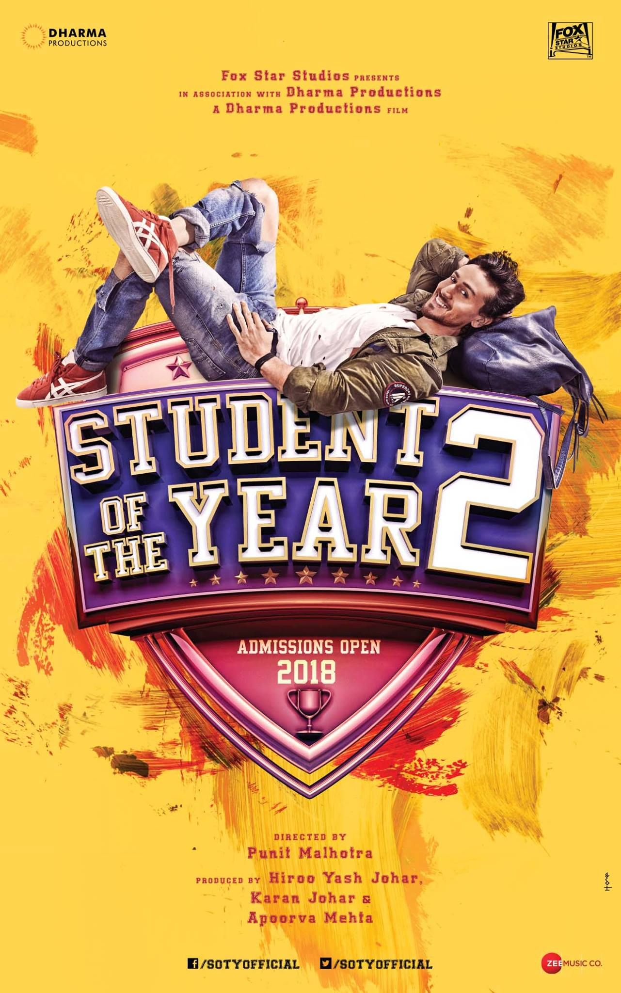 Student Of The Year 2 Official Poster Tiger Shroff Directed By Punit Malhotra Movie Releasing In 2 Student Of The Year Movies To Watch Online Full Movies