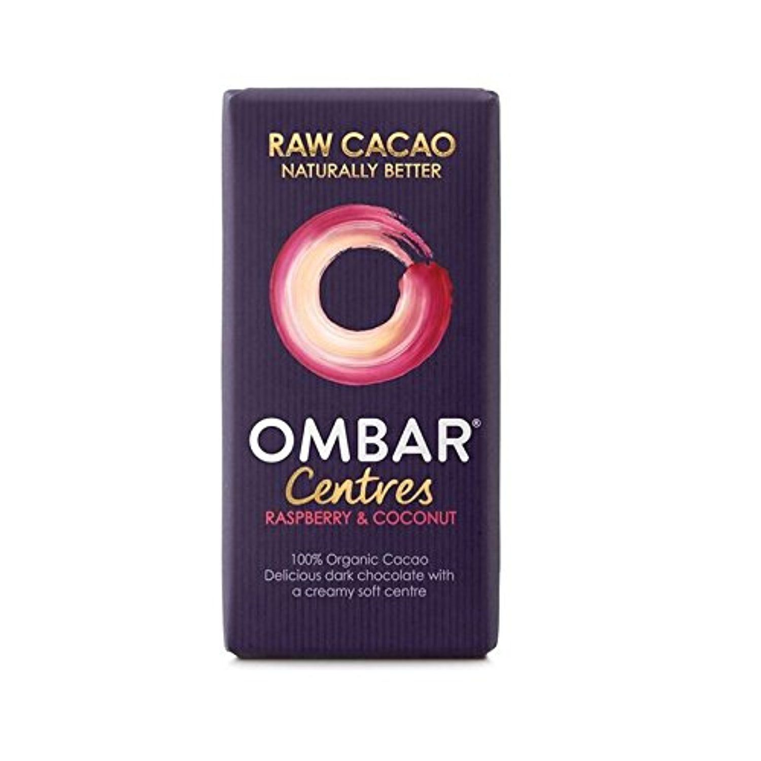 Ombar Raspberry & Coconut Raw Chocolate Centre 35g - Pack of 4 -- Awesome products selected by Anna Churchill