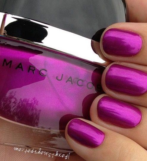 Marc Jacobs Magenta Nails Luxurydotcom Magenta Nails Nail Polish Metallic Nail Polish