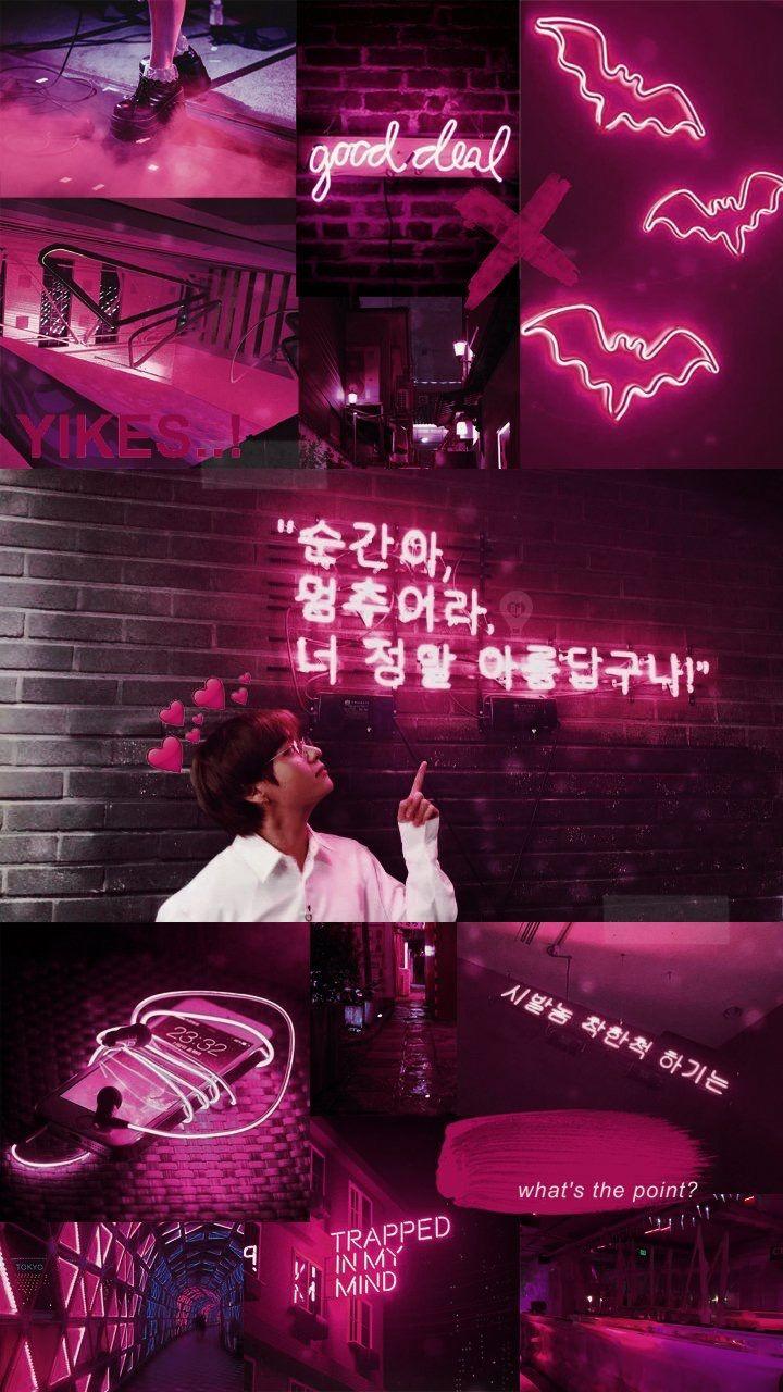 Pin oleh KookTae is real di Collages BTS Dinding gambar