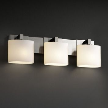 Justice Design Bathroom Lighting Justice Design Group Fusion Modular Three Light Bath Vanity