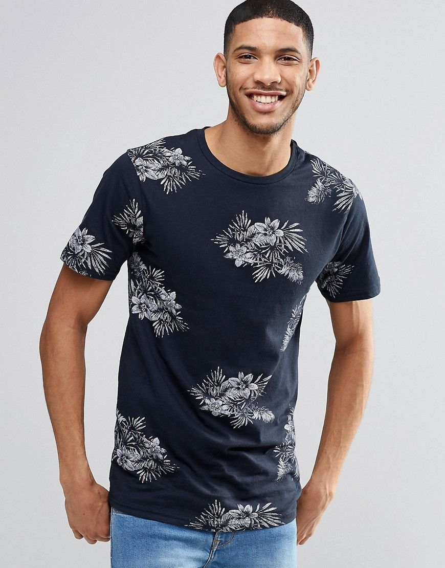 2790e21619aad0 Pull amp Bear+T-Shirt+With+Floral+Print+In+