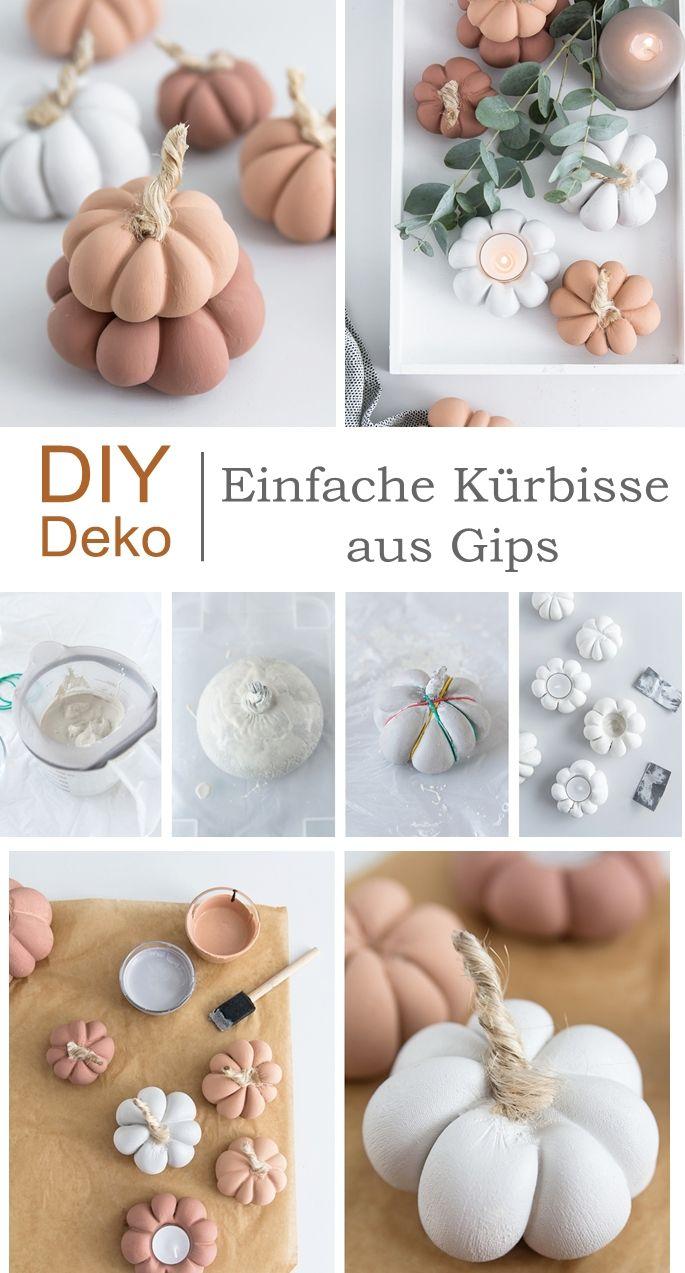Photo of Terracottafarbene Herbstdeko: DIY Kürbis aus Gips #styleyourkürbis
