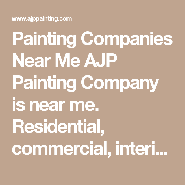 Best Painting Companies Near Me