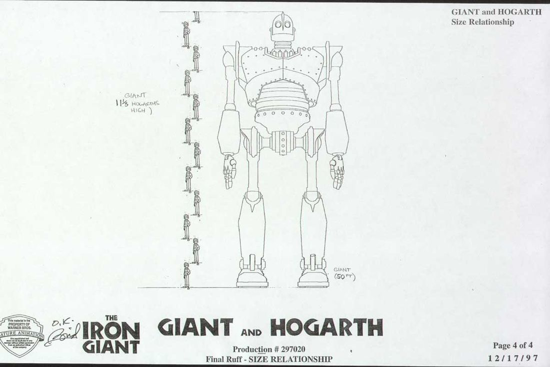 Model Sheet Monday The Iron Giant Character Design Page