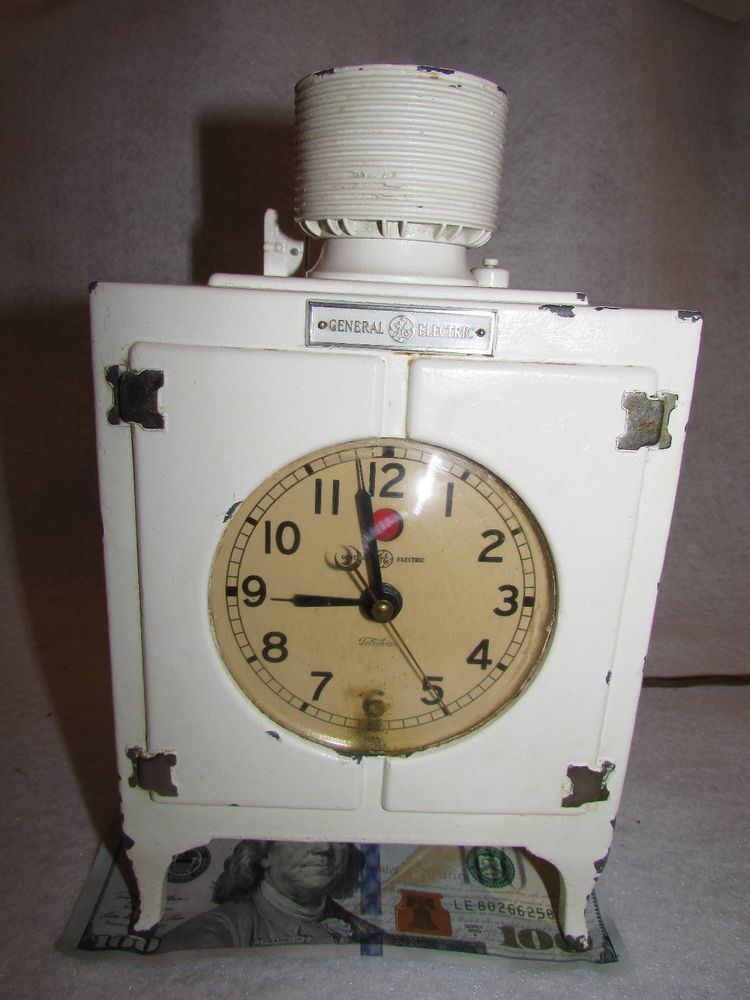 Telechron Refrigerator Clock GE 1920s Silent Art Deco Monitor Top Accurate Elect #Telechron