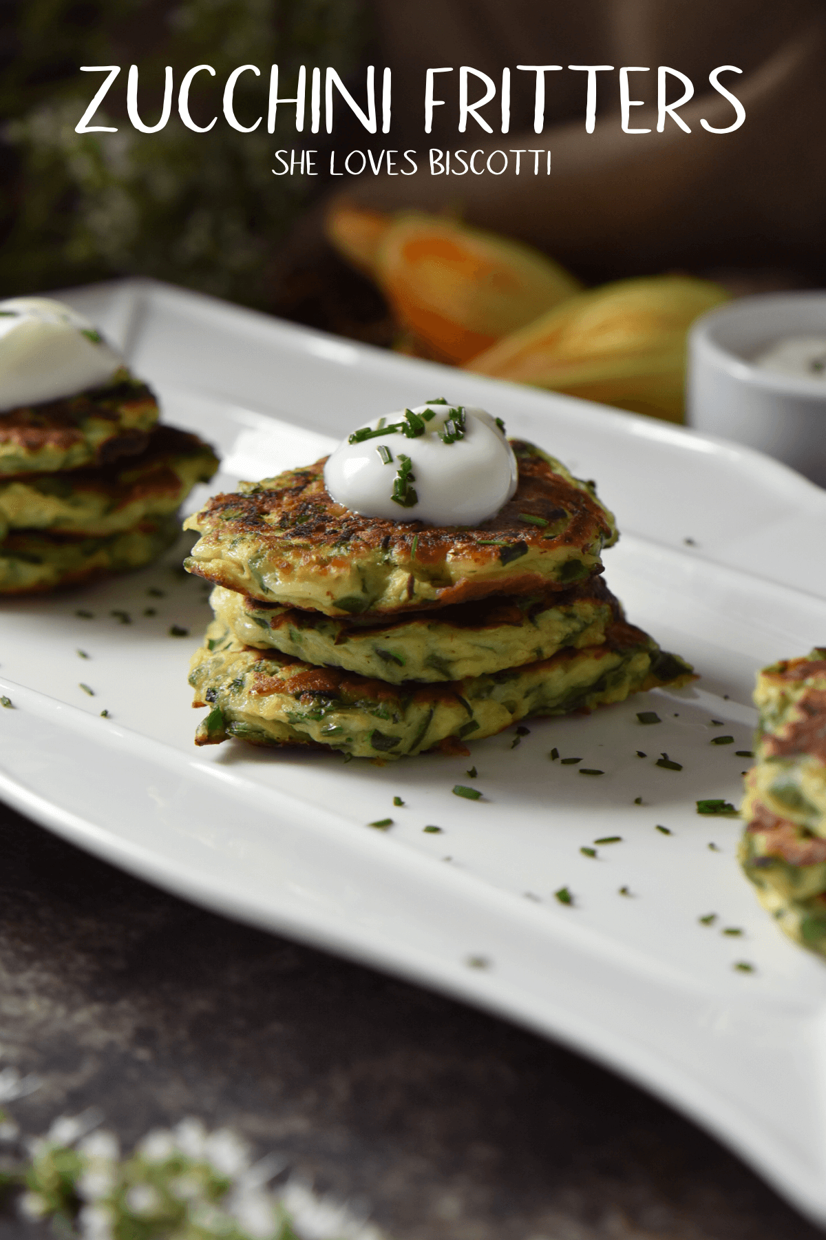 Zucchini Fritters-an easy and tasty appetizer or light meal.