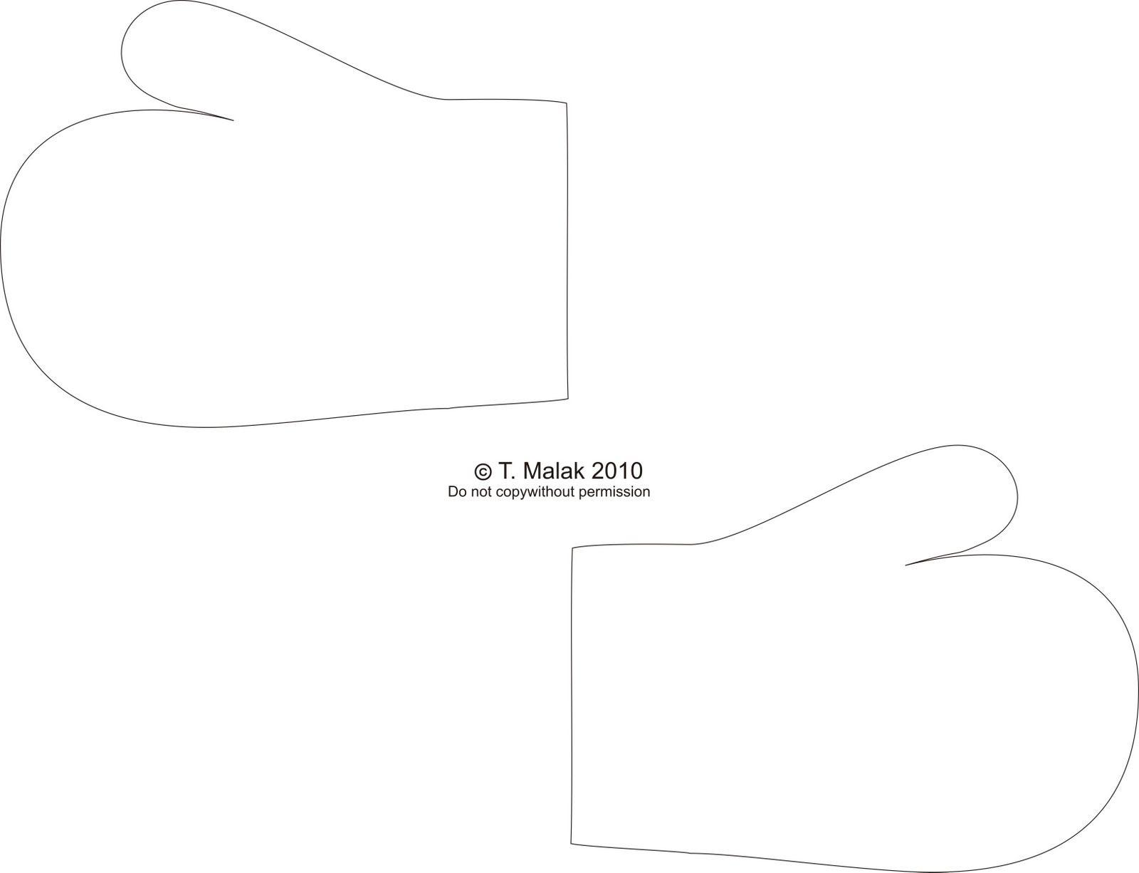 single mitten template - Google Search   Crafts   Pinterest ...
