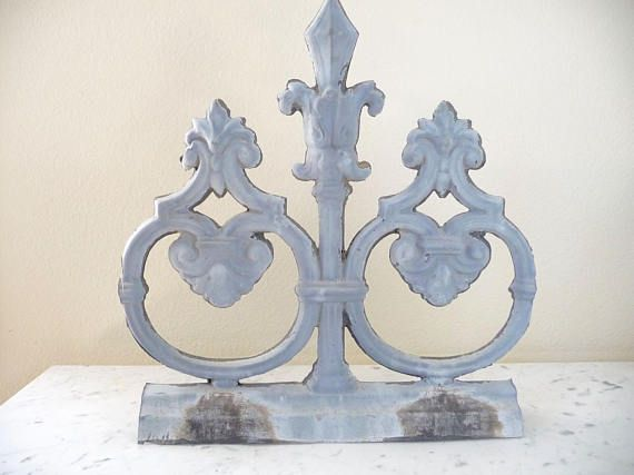 Best Antique Architectural Salvage French Zinc Roof Fragment 400 x 300