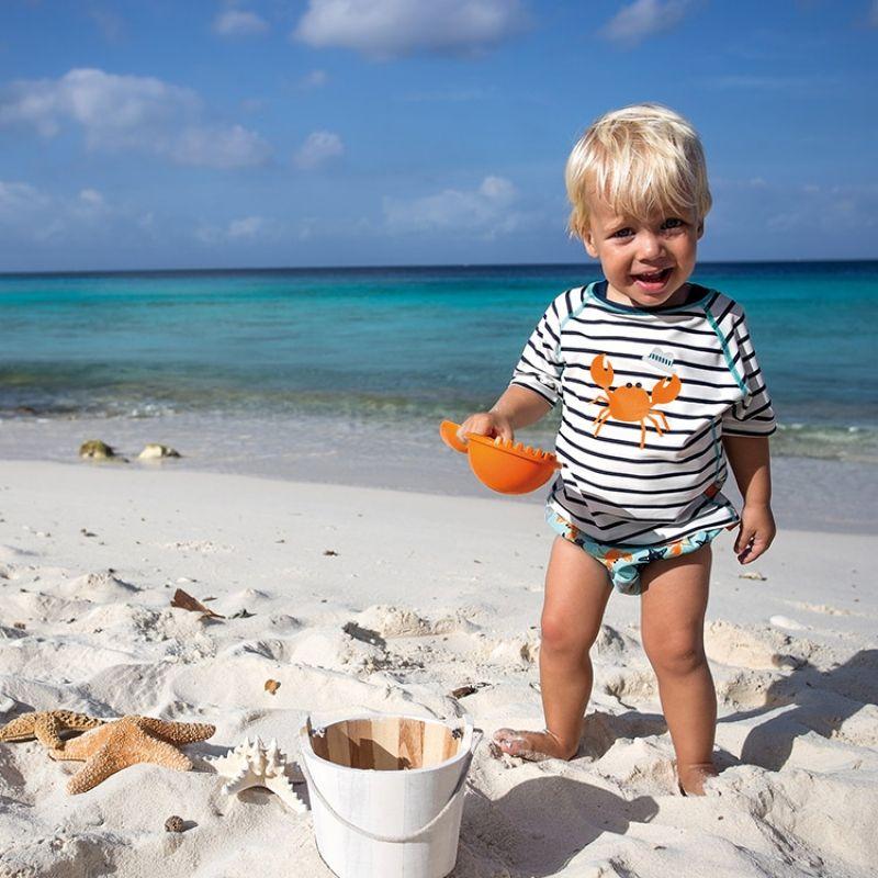 0fdc544ddd555 Tee-shirt de protection UV à manches courtes Splash   Fun marin bleu ...