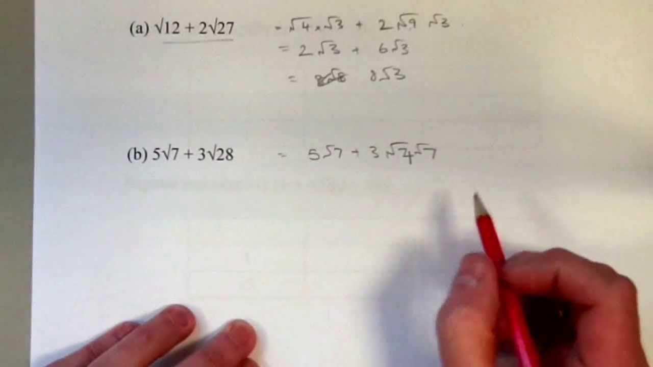 Gcse Higher Surds And Indices Math Tutoring Pinterest Math