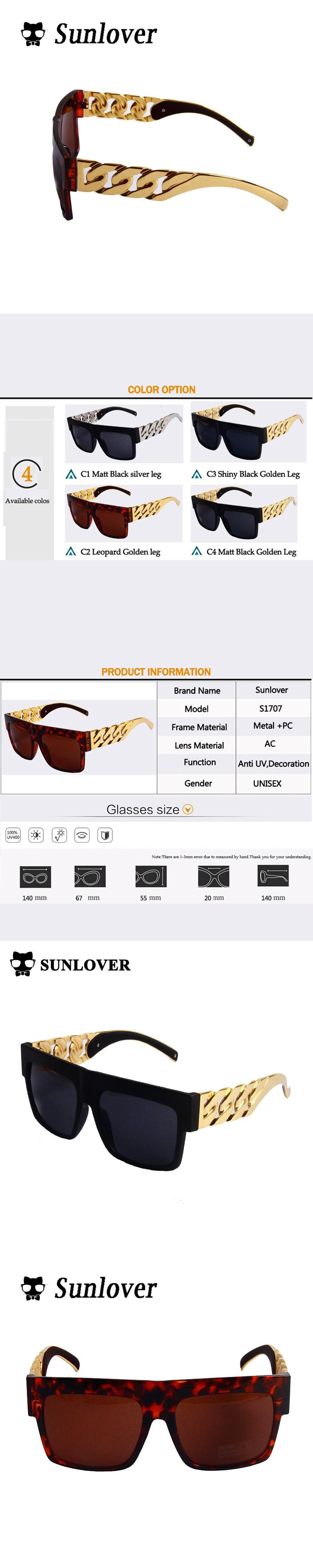 9c44c0dd51e SUNLOVER Kim kardashian Sunglasses Beyonce Celebrities Metal Gold Chain Sun  glasses Oversized Brand Designer Women Shades